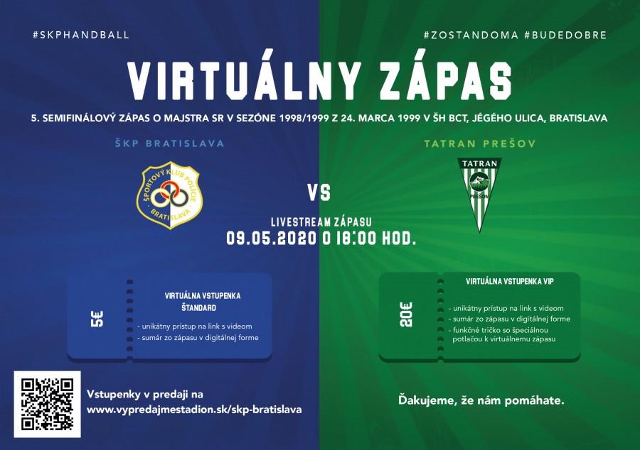 Pozrite si pamätný zápas s Tatranom Prešov a podporte nás kúpou vstupenky