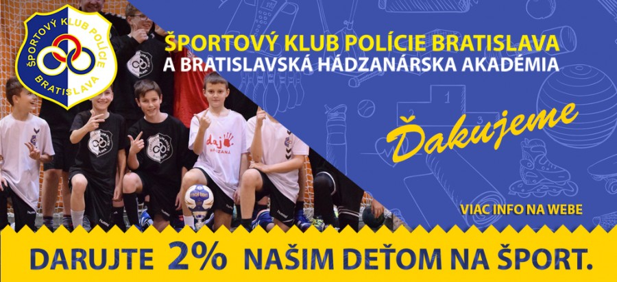 Darujte 2% naším deťom na šport!